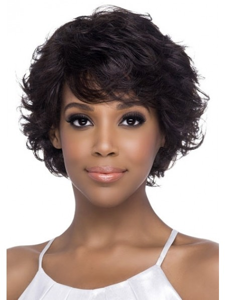 2019 Remy Natural Human Hair Wig With Perfect Sweeping Bangs