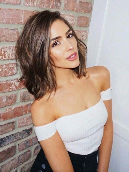 Remy Human Hair Lace Front Olivia Culpo Celebrity Wigs
