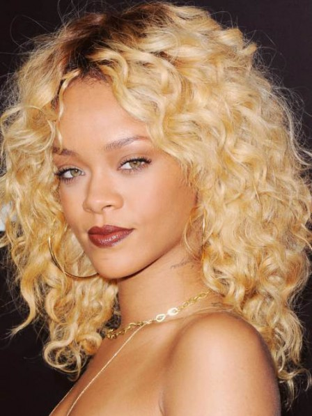 Rihannas Most Iconic Blonde Curly Hair Wig For Black Women 2019