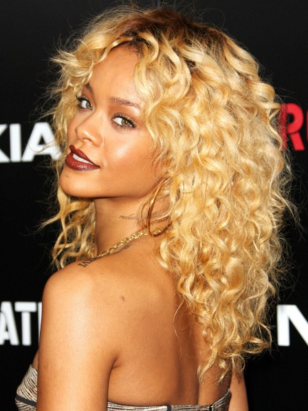 Rihanna's Most Iconic Blonde Curly Hair Wig For Black Women 2019