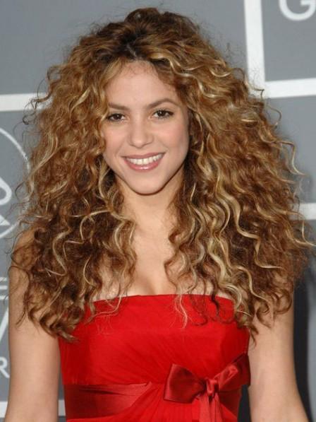 Shakira Long Curly Blonde Lace Front 100% Brazilian Hair Wig