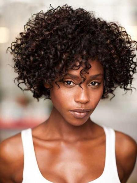 Popular Comfortable Short Curly Wig Capless For Black Women