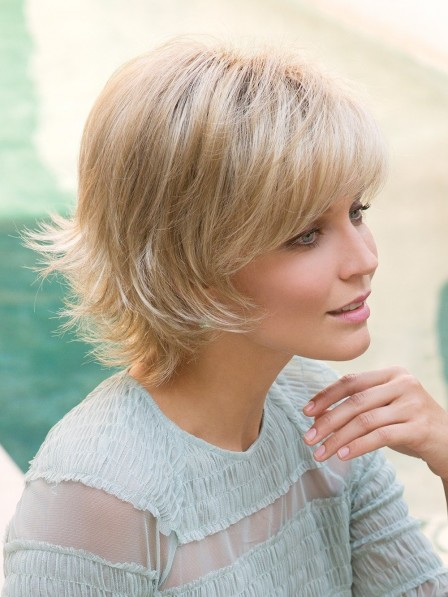 Online Sale Short Layered Synthetic Blonde Wigs