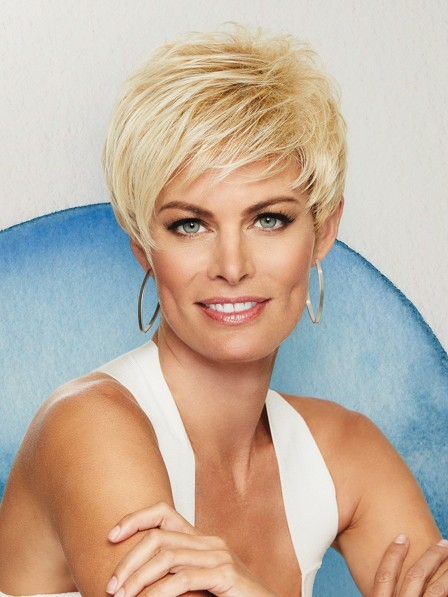 Smooth Capless Layers Classic Short Wig For Women
