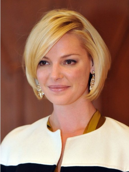 Straight Blonde Lace Front Synthetic Celebrity Bob Wigs