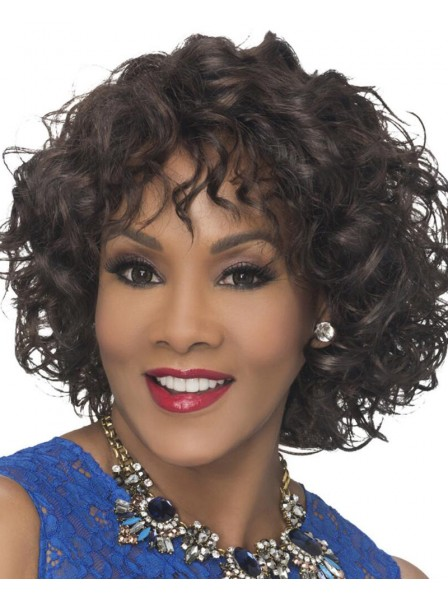 Stylish Mid-Length Bob Wig With Loose Spiral Curls