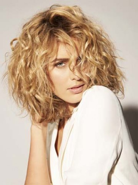 Hot Sale Curly Hair Style Medium Length Synthetic Wig