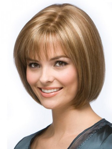 Best Chin Length Bob Straight Human Hair Wig With Bangs Hot Sale