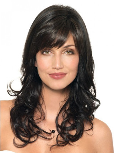 Classic Long Capless Human Hair With Side Bangs Fast Ship