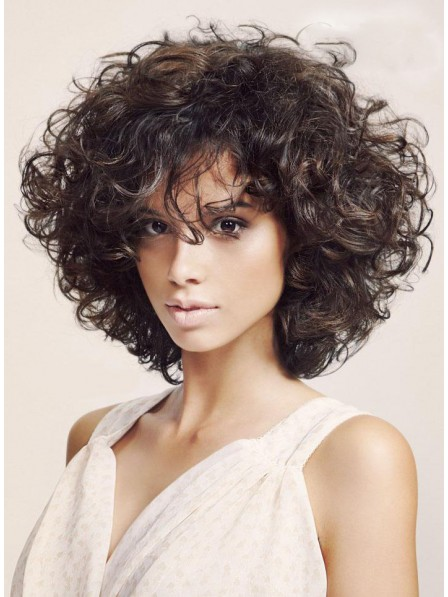 Fabulous Best Shoulder Length Curly Capless Synthetic Hair Wigs
