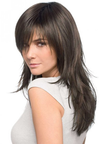 Modern Layered Long Wavy Cut Wig 100% Human Hair