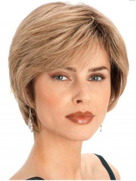 New Arrival Ladies Short Straight Human Hair Wig With Bangs