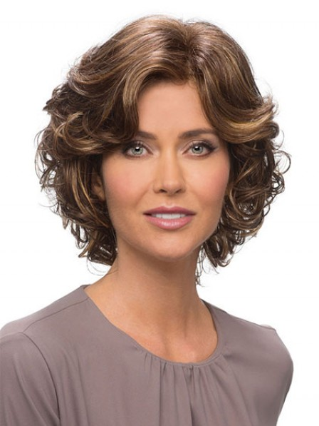 New Design Best Short Human Hair Curly Wig for Hair Loss