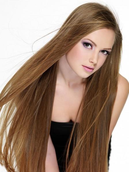 Fashion Lace Front Human Hair Long Straight Women Wigs