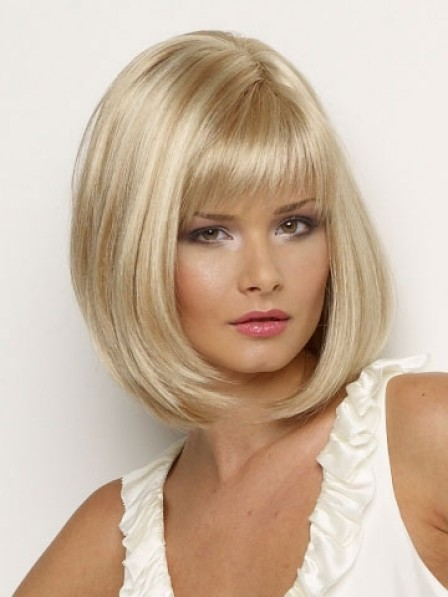2019 Hot Sale Bob Straight Synthetic Wig With Full Bangs For Women