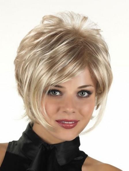 Heat Friendly Synthetic Hair Short Wavy Capless Hair Wigs