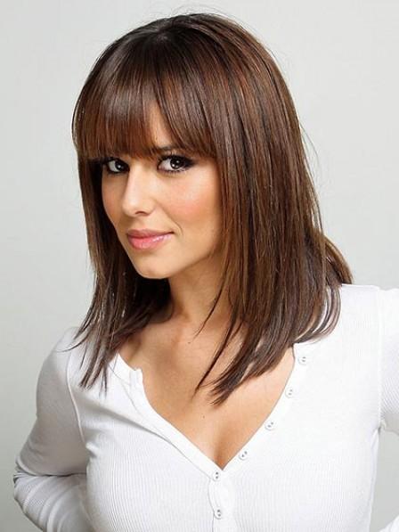 Best Sleek Shoulder Length Lace Front Straight Celebrity Wigs