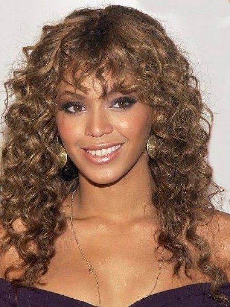 Long Curly Wigs With Bangs Capless Hair Wigs