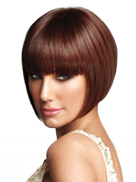 Pretty Bob Synthetic Straight Women Wig For Young Lady