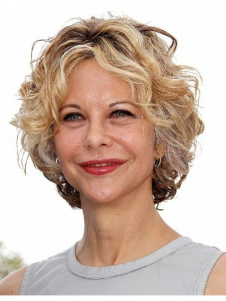 Curly Amazing Capless Synthetic Short Wigs for Ladies Over 40