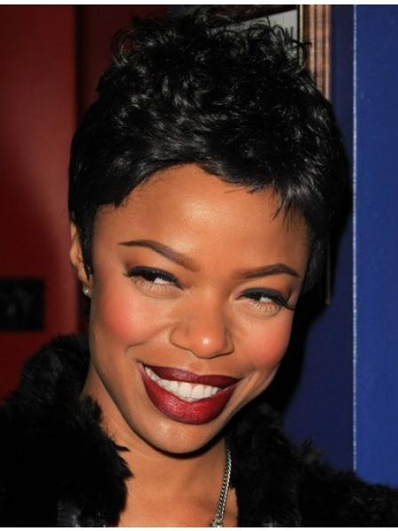 Health Design Human Hair Pixie Cut African American Wig