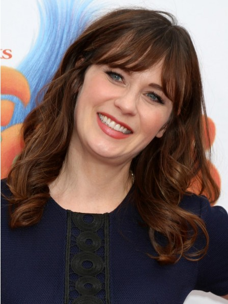 Zooey Deschanel Wonderful Lace Front Cheap Synthetic Wig
